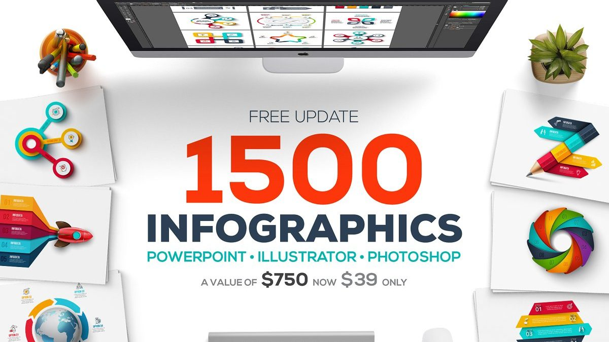 1500+ infographics bundle - huge deal! - 1500 infographics templates presentation 1200x675 - 1500+ infographics bundle – Huge deal!