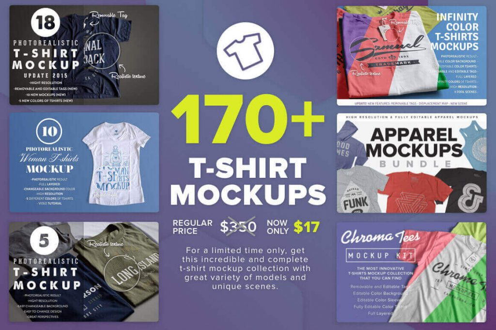 170+ massive t-shirt mockups bundle - 170 1024x681 - 170+ Massive T-Shirt Mockups Bundle