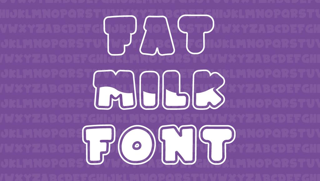 fat milk font - Fat Milk Header Gumroad 1 - Fat Milk Font Typeface