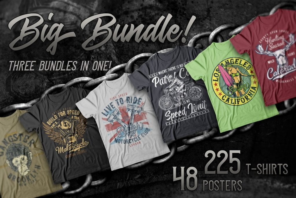 - 250 t shirt designs mega pack 1024x683 - Huge deal! 250+ t-shirt designs for commercial use