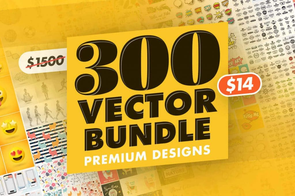 the 300 vector bundle of premium designs and retro labels - only $14! - 300 1024x681 - 300+ Premium Vector Designs and Retro Labels