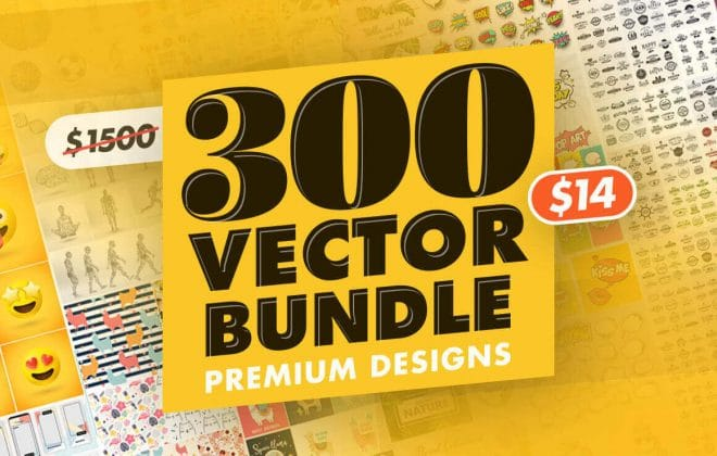 the 300 vector bundle of premium designs and retro labels - only $14! - 300 660x420 - 300+ Premium Vector Designs and Retro Labels