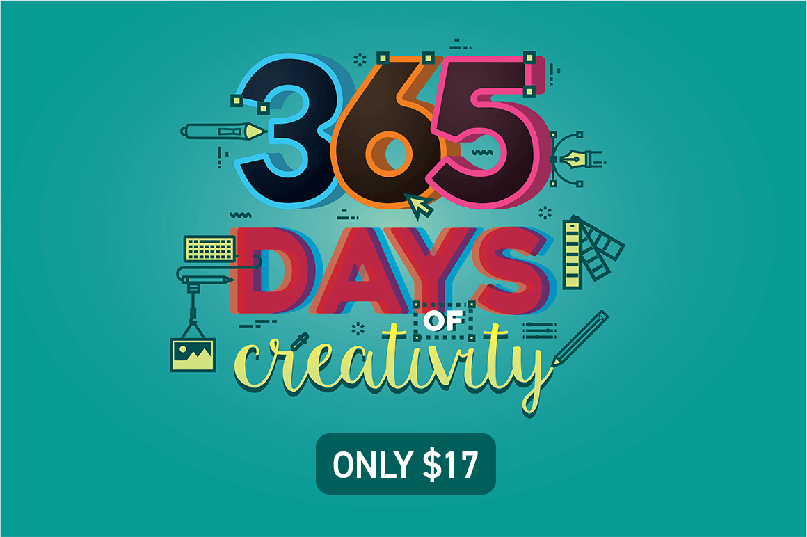 design deals - 365 days - Awesome design bundle deals for designers!