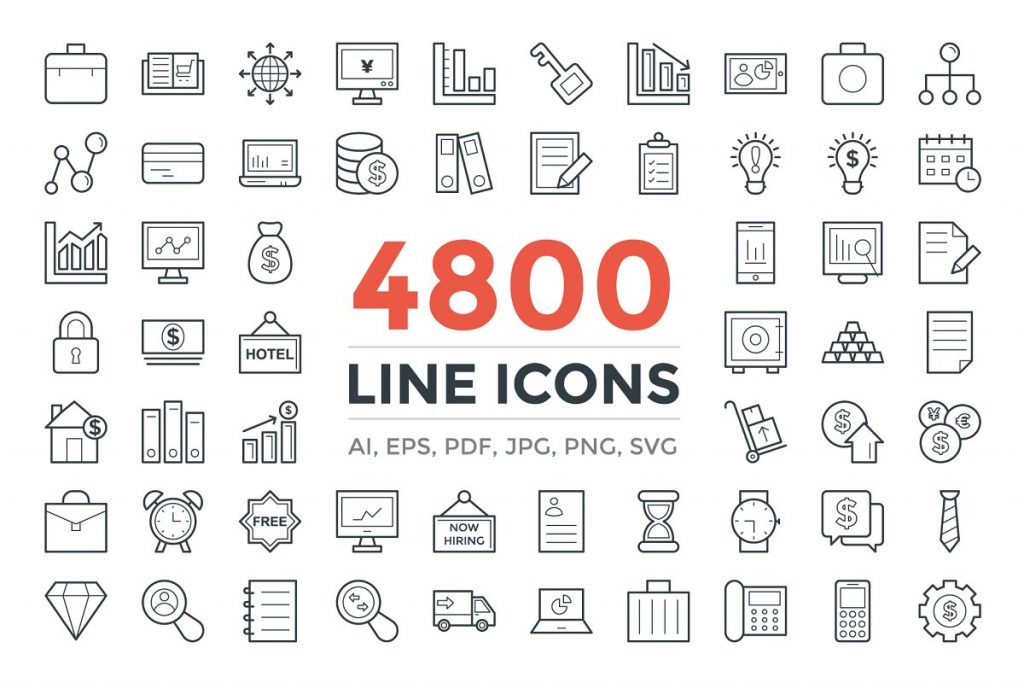 4800 unique line icons pack - 4800 unique line icons pack 1024x683 - 4800 unique line icons pack