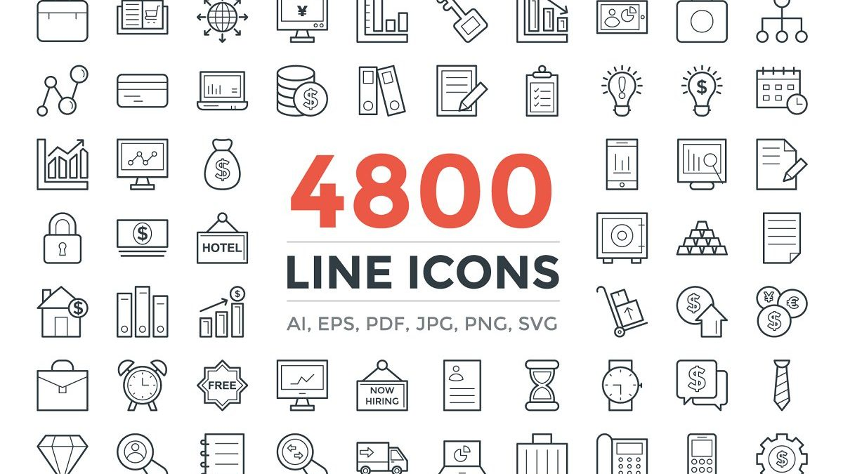4800 unique line icons pack - 4800 unique line icons pack 1200x675 - 4800 unique line icons pack