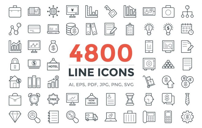 4800 unique line icons pack - 4800 unique line icons pack 660x420 - 4800 unique line icons pack