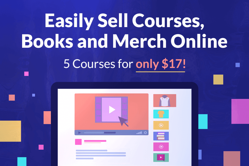 - 5 courses 1024x681 - Easily Sell Merch & Books Online