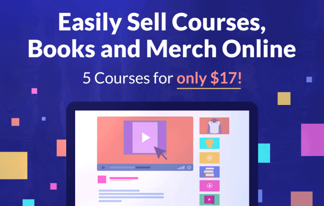 - 5 courses 660x420 - Easily Sell Merch & Books Online