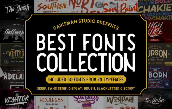50 premium fonts by garisman studio - 50 fonts 660x420 - 50 Premium Fonts by Garisman studio