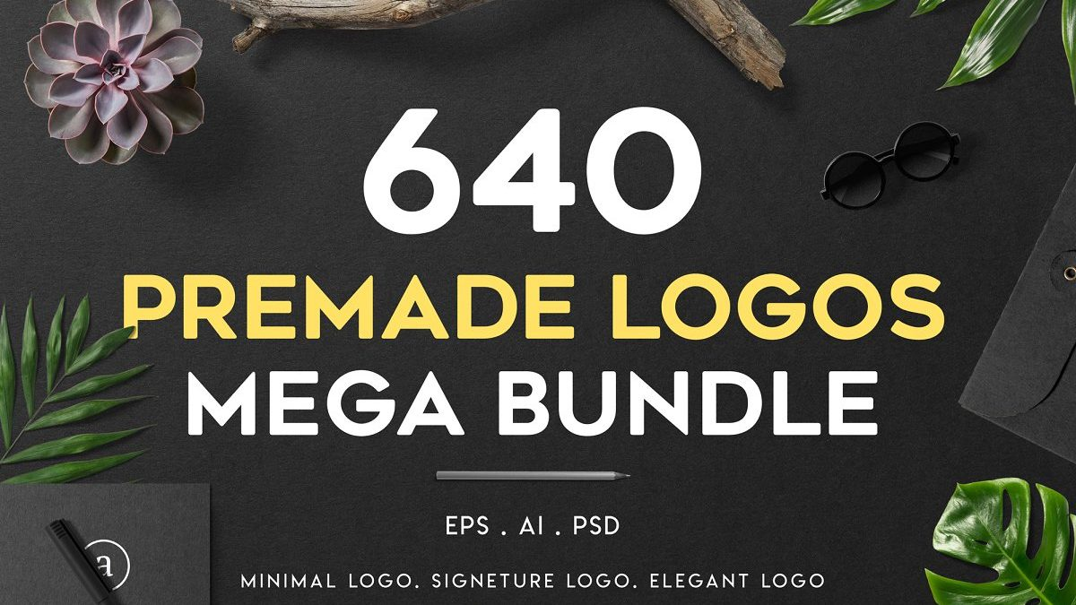 - 640 premade logo mega bundle 1200x675 - 640 Pre-made Logo's Mega Bundle