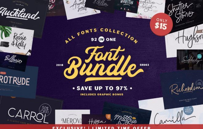 - 92 IN 1 660x420 - Exclusive 92-in-1 Fonts Bundle