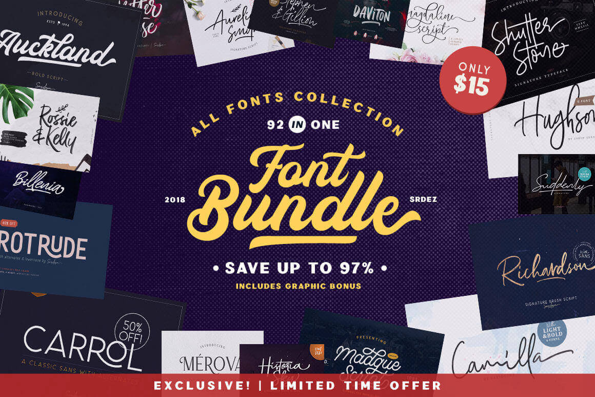 design deals - 92 IN 1 - Awesome design bundle deals for designers!