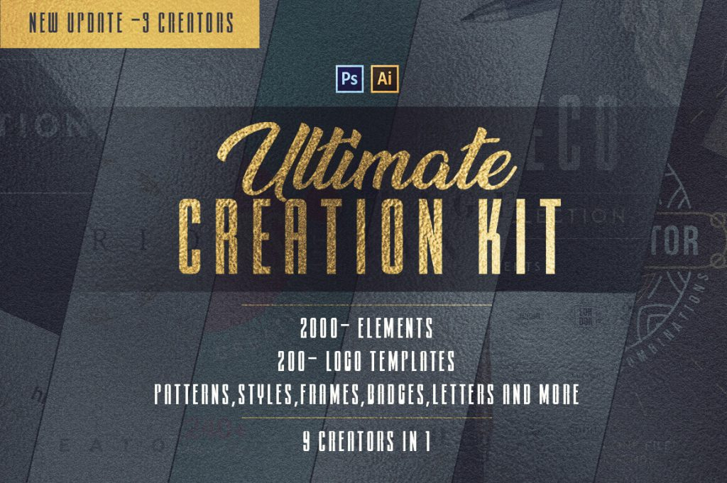 ultimate creation kit: 2,200+ design elements - 9in1 1024x681 - Ultimate Creation Kit: 2,200+ Design Elements