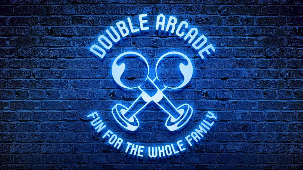 logo design template - Double arcade logo template mockup 1200x675 - Double Arcade – Logo design template