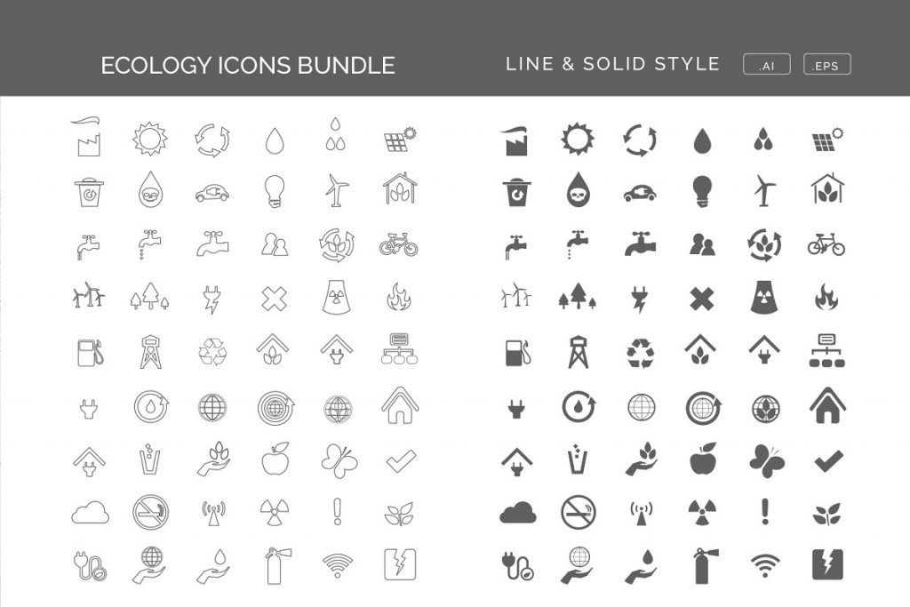 45 ecology icons bundle - Lolaraw Renewable Energy Icons Set 1024x683 - 45 Ecology Icons Bundle