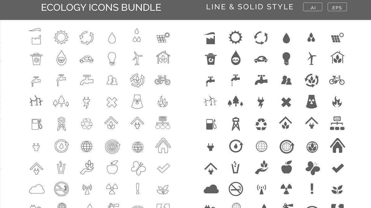 45 ecology icons bundle - Lolaraw Renewable Energy Icons Set 1200x675 - 45 Ecology Icons Bundle