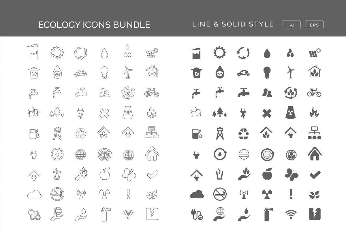 design deals - Lolaraw Renewable Energy Icons Set - Awesome design bundle deals for designers!