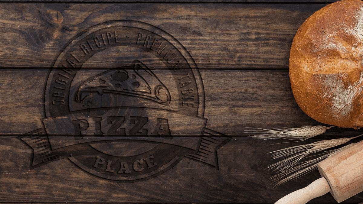 logo mockup - Wood n Food Logo Mockup 1 1200x675 - Wood 'n Food – Photoshop Mockup