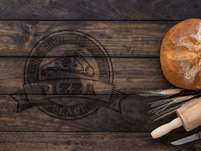 digital design products - Wood n Food Logo Mockup 1 667x500 - Become a design guru with our digital design products!