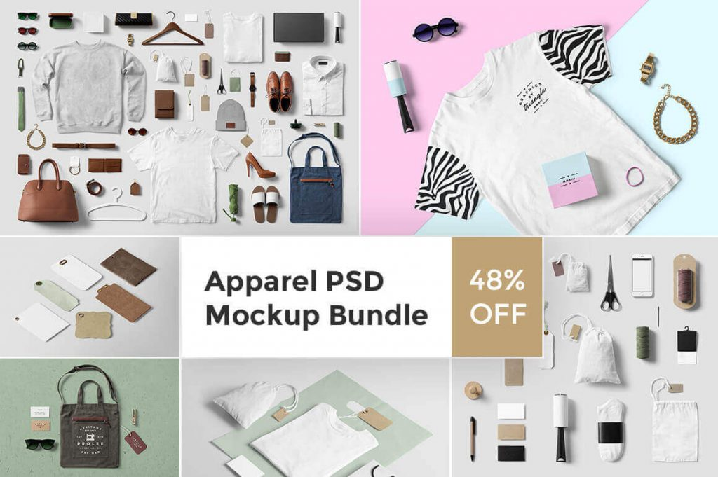 premium clothing mockup bundle - apparel bundle 1024x681 - Premium Clothing Mockup Bundle