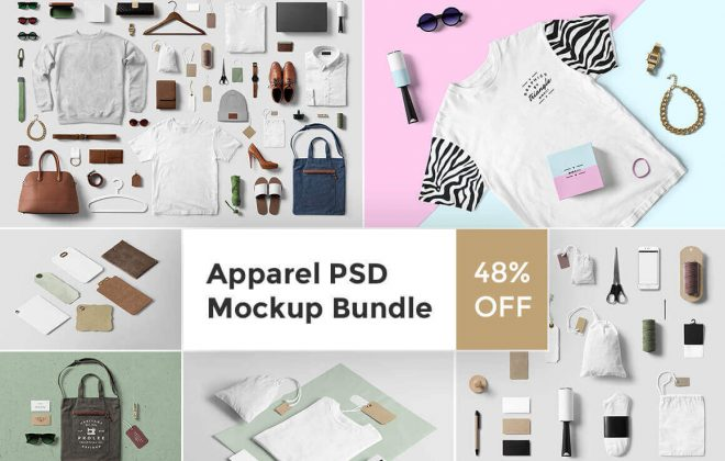 premium clothing mockup bundle - apparel bundle 660x420 - Premium Clothing Mockup Bundle
