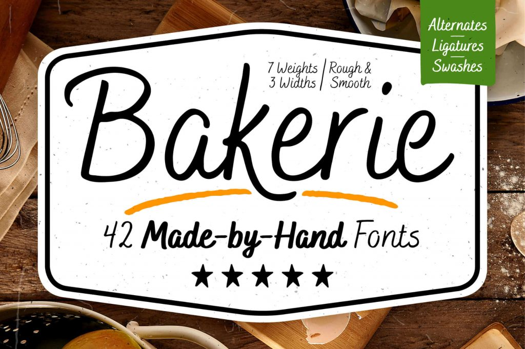bakerie - 42 script fonts bundle - bakerie 1024x681 - Bakerie – 42 Script Fonts bundle