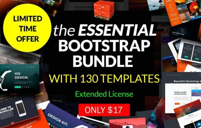 the essential bootstrap bundle with 130 templates - bb2 660x420 - The Essential Bootstrap Bundle with 130 Templates
