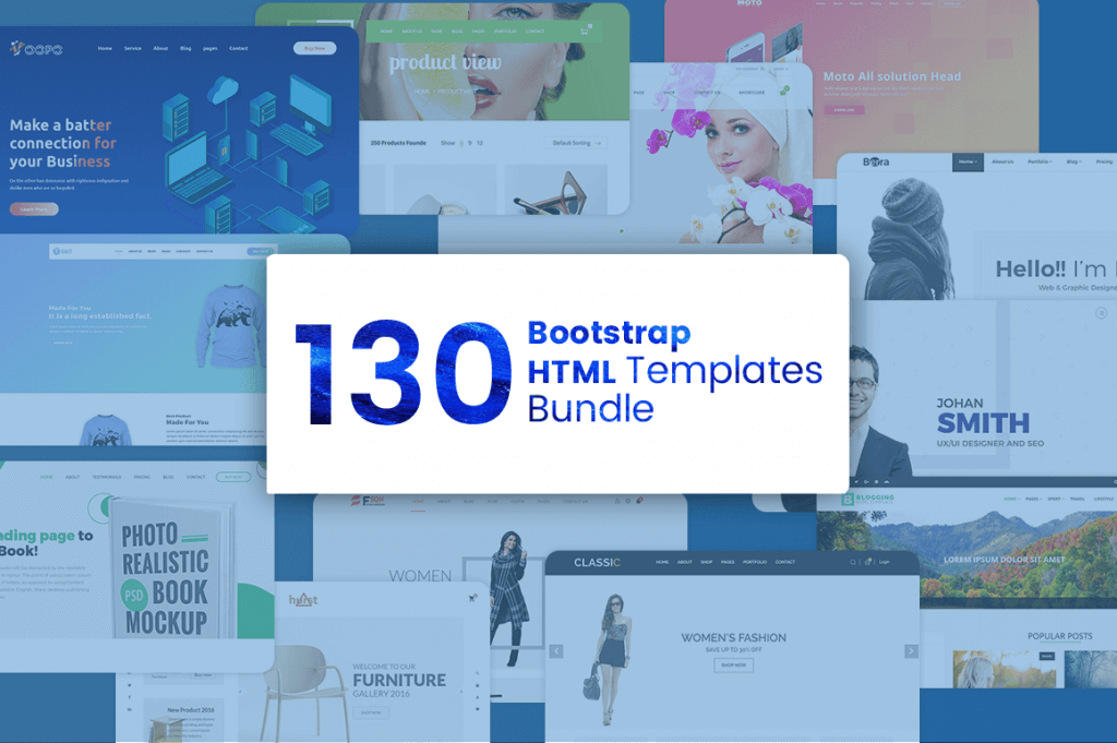 130 premium bootstrap html templates - bootstrap bundle cover 1024x681 - 130 Premium Bootstrap HTML Templates