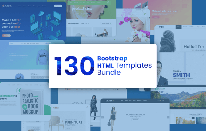 130 premium bootstrap html templates - bootstrap bundle cover 660x420 - 130 Premium Bootstrap HTML Templates
