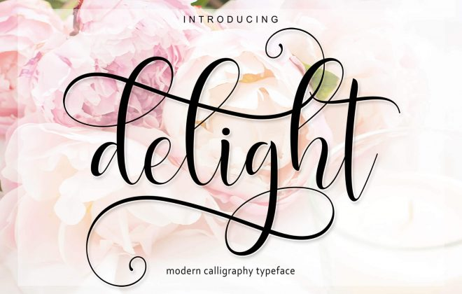 delight script - a modern calligraphy typeface - delight10 660x420 - Delight Script – A Modern Calligraphy Typeface