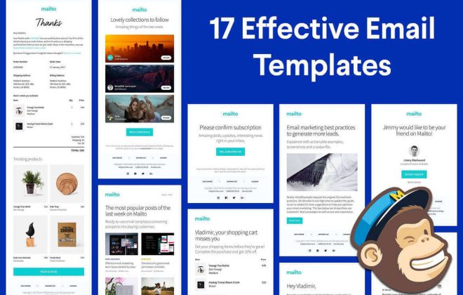 17 responsive html email templates - email templates bundle 660x420 - 17 Responsive HTML Email Templates