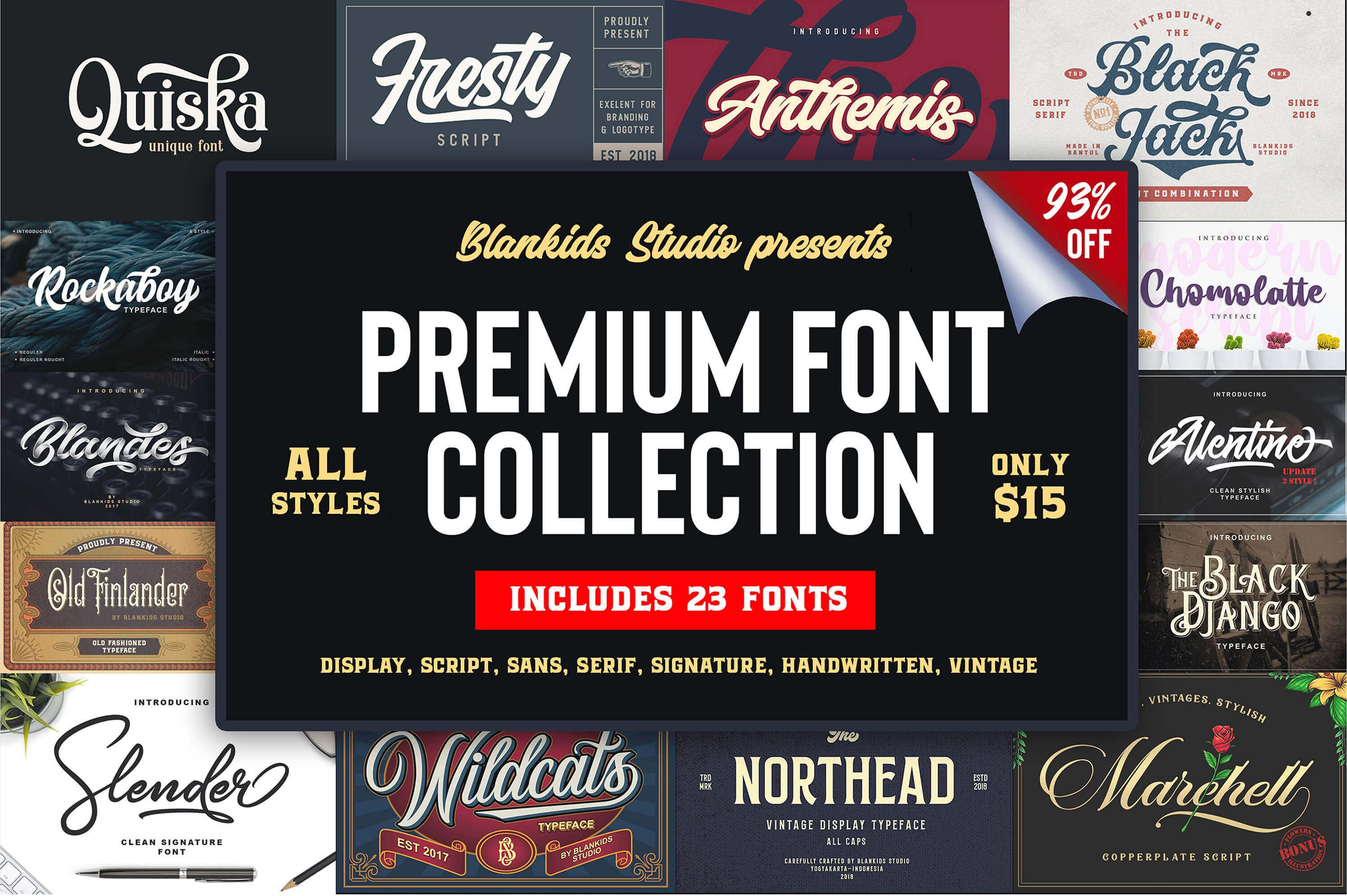 design deals - font bundle - Awesome design bundle deals for designers!