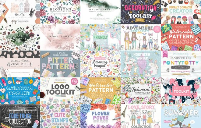 16300 design assets in 1 huge bundle - giant illustration bundle 16300 assets 660x420 - 16300 design assets in 1 huge bundle