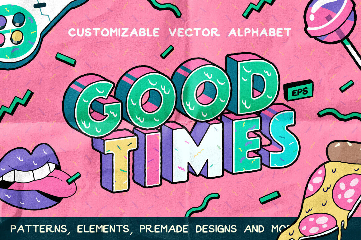 design deals - good times - Awesome design bundle deals for designers!