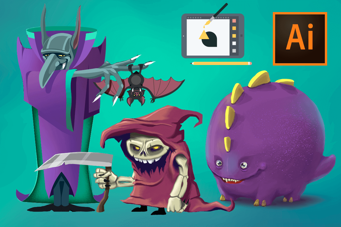 design deals - monsters course - Awesome design bundle deals for designers!