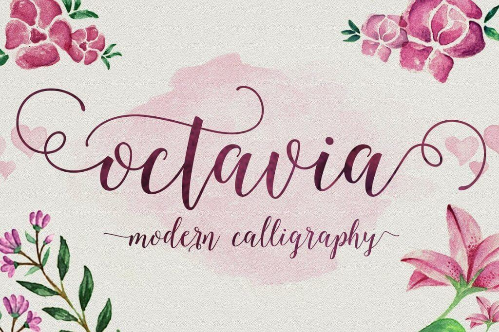 popular, elegant calligraphy font octavia script - only $9! - octavia2 1024x682 - Octavia Calligraphy Font, Popular and Elegant