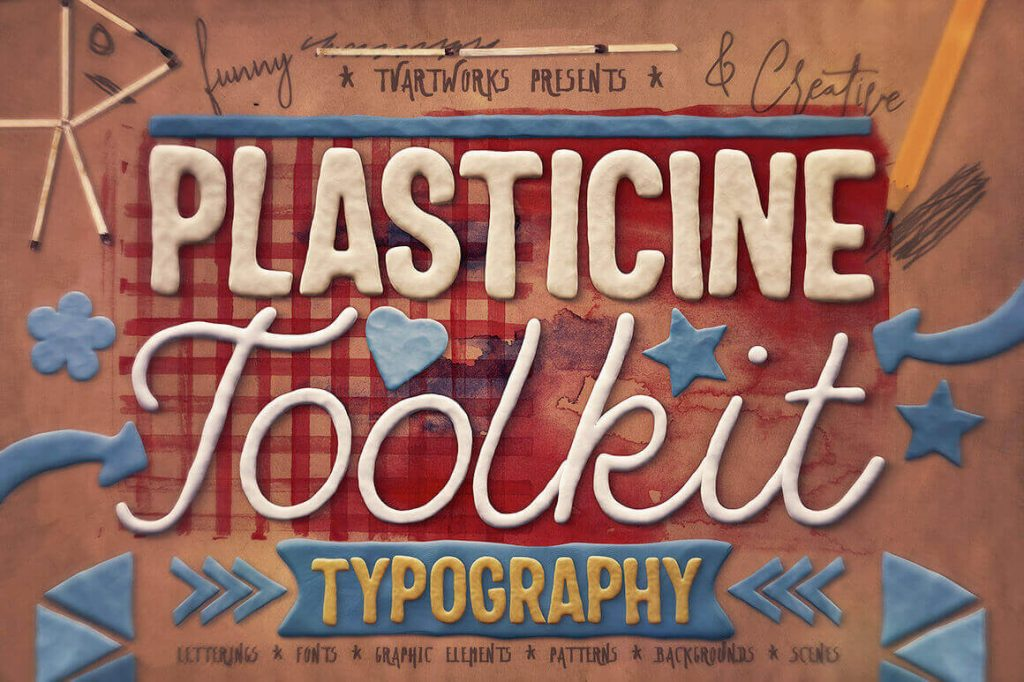 play-doh plasticine typography toolkit - plasticine 1024x682 - Play-Doh Plasticine Typography Toolkit