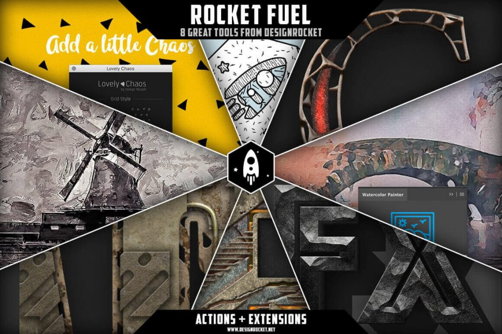 designrocket rocket fuel bundle of 8 photoshop actions and extensions - only $15! - rocket fuel 1024x681 - 8 Great Photoshop Actions Bundle