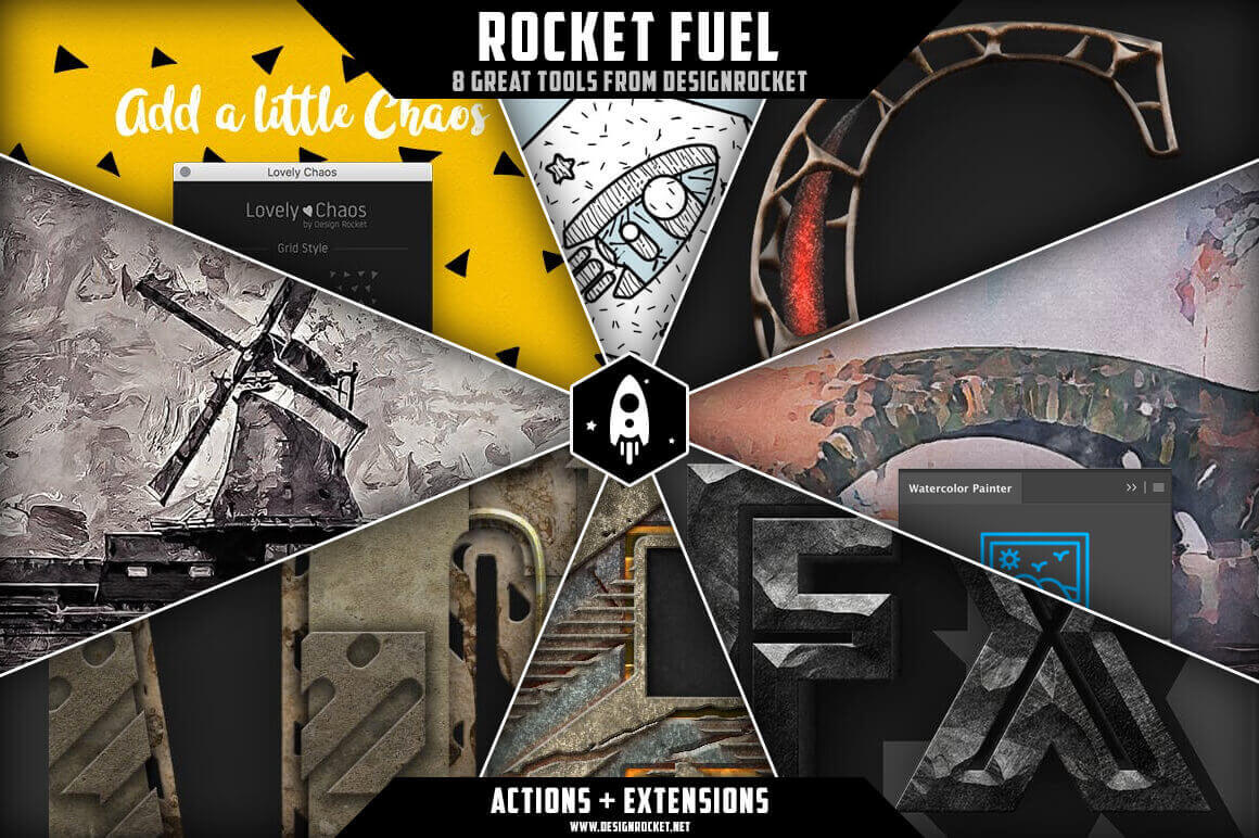 design deals - rocket fuel - Awesome design bundle deals for designers!