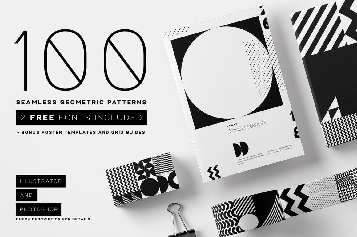 design deals - seamless geometric patterns - Awesome design bundle deals for designers!